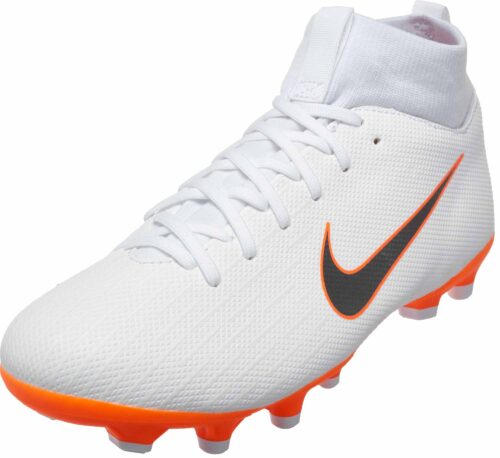 Nike Mercurial Superfly 6 Academy MG – Youth – White/Metallic Cool Grey/Total Orange