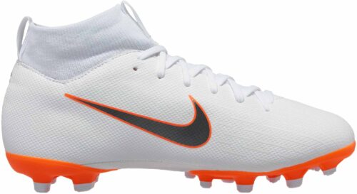 Nike Mercurial Superfly 6 Academy MG – Youth – White/Metallic Cool Grey/Total Orange