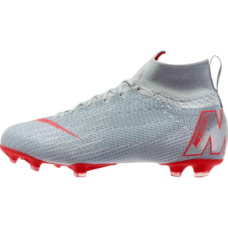 e4cdeda31ff Nike Mercurial Superfly 6 Elite FG - Youth - Wolf Grey/Light Crimson/Pure  Platinum - SoccerPro