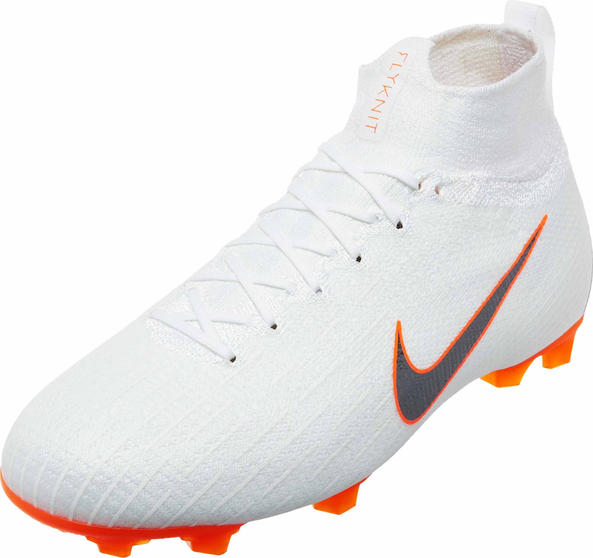 9f83b051d Nike Kids Mercurial Superfly 6 Elite FG - White Total Orange - SoccerPro