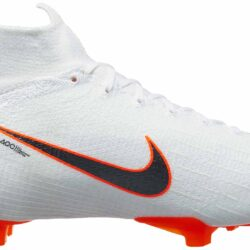 adc51caa4 Nike Kids Mercurial Superfly 6 Elite FG – White Total Orange. Part   AH7340  107 ...