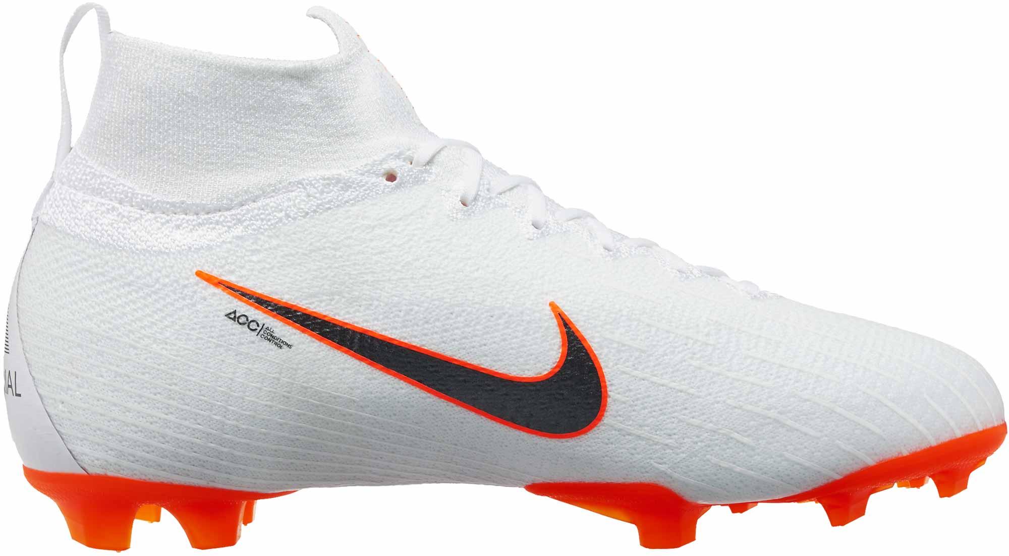 Nike Kids Mercurial Superfly 6 Elite Fg White Total