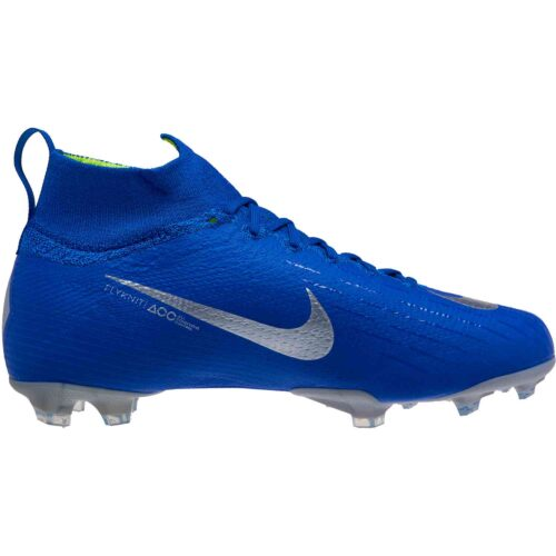 Nike Mercurial Superfly 6 Elite FG – Youth – Racer Blue/Metallic Silver/Black/Volt
