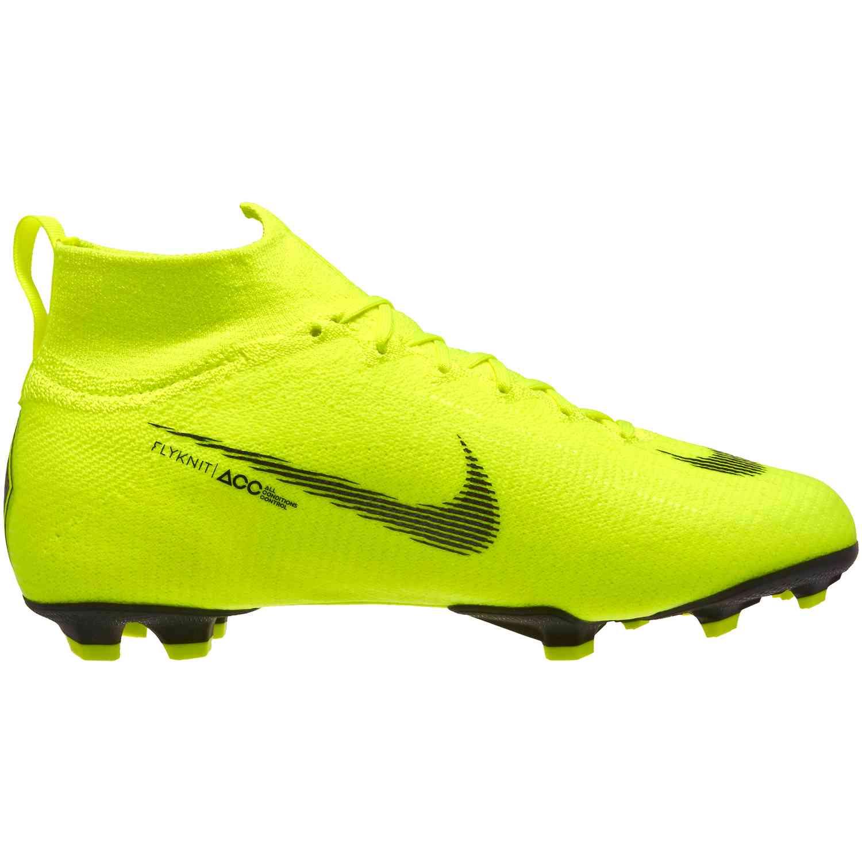 Kids Nike Superfly 6 Elite FG Soccer Cleats - Volt and Black ...