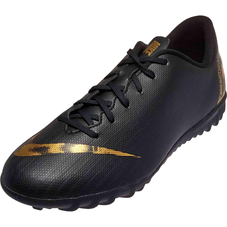 cheap for discount a48d8 5385c Kids Nike Mercurial Vapor 12 Academy TF – Black Lux