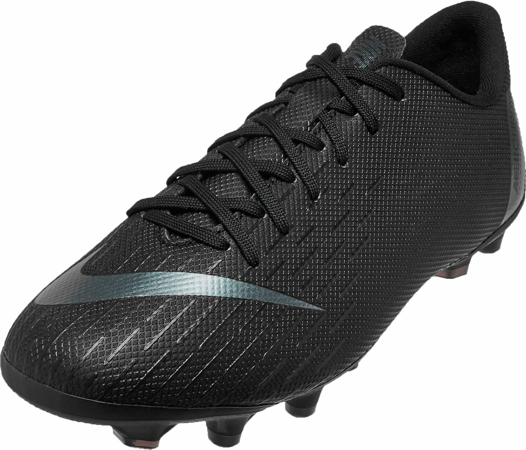a2222c544da72 Nike Mercurial Vapor 12 Academy MG – Youth – Black/Black