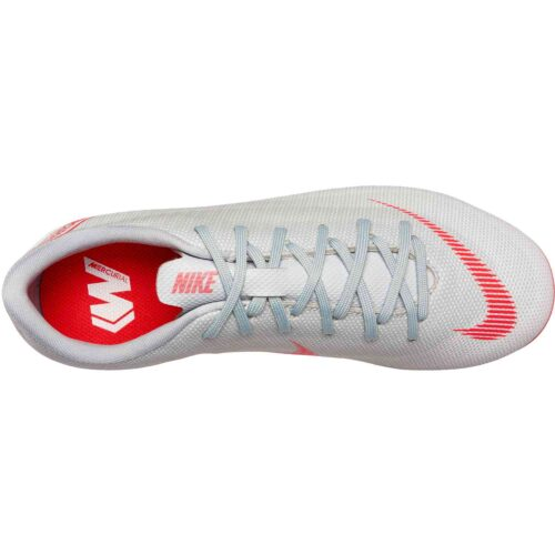 Nike Mercurial Vapor 12 Academy MG – Youth – Wolf Grey/Light Crimson/Pure Platinum