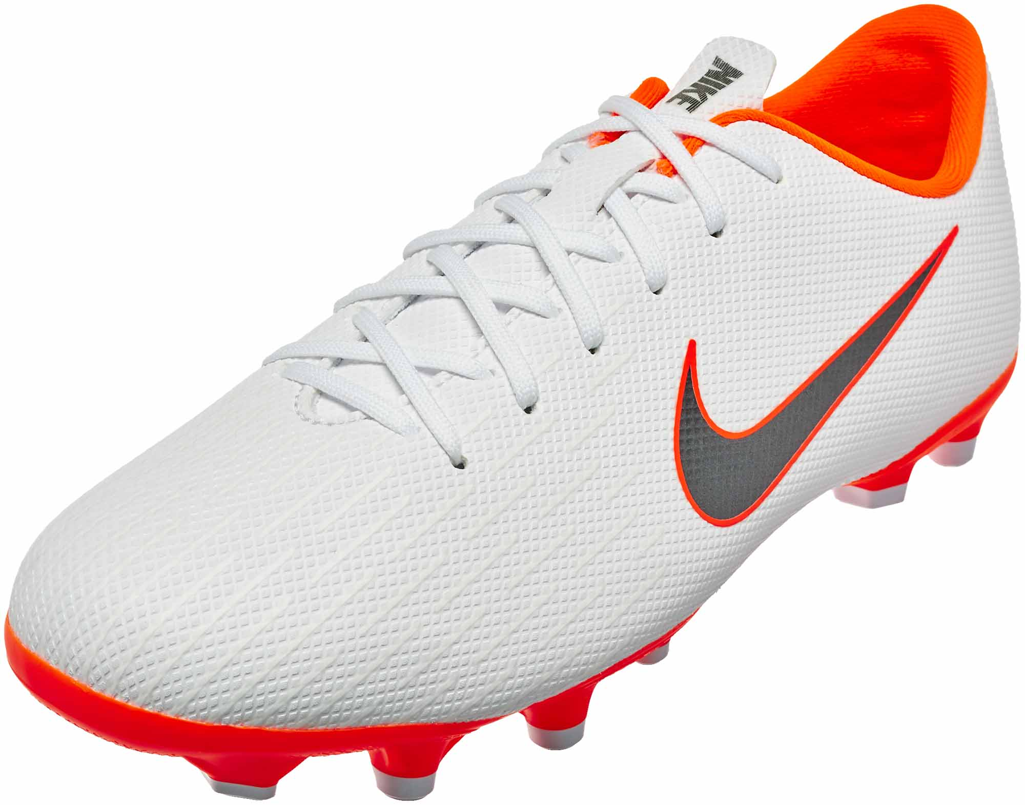 Nike Mercurial Vapor 12 Academy MG – Youth – White Metallic Cool Grey Total 7ab98fea7793