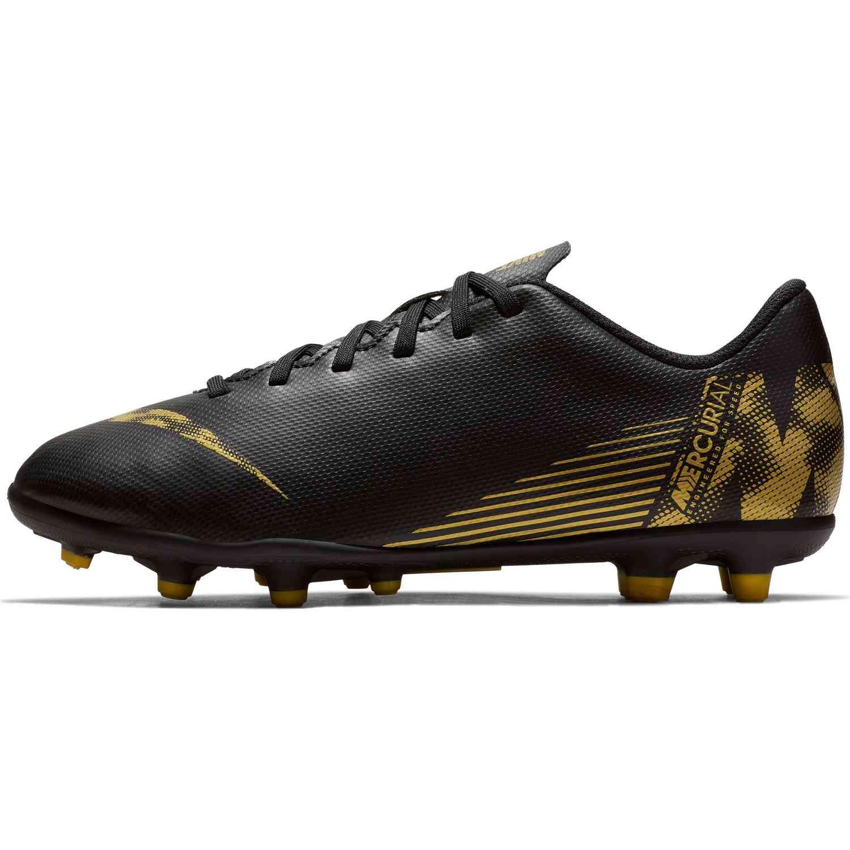 697b46edd Kids Nike Mercurial Vapor 12 Club MG - Black Lux - SoccerPro