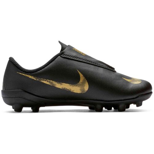 Kids Nike Velcro Mercurial Vapor 12 Club MG – Black Lux