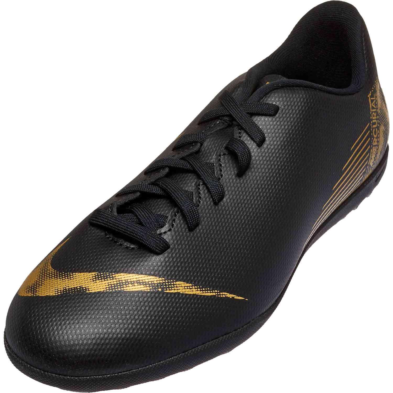 d7b77bd8be6a Kids Nike Mercurial Vapor 12 Club TF - Black Lux - SoccerPro