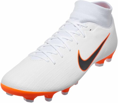 Nike Superfly 6 Academy MG – White/Metallic Cool Grey/Total Orange