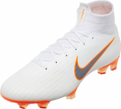 Nike Mercurial Superfly 6 Elite FG – White/Total Orange