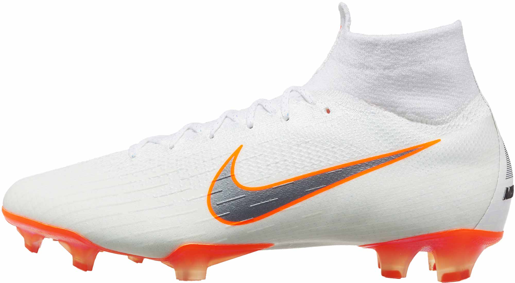 newest collection 83c2f b3d11 Nike Mercurial Superfly 6 Elite FG - White/Total Orange - SoccerPro