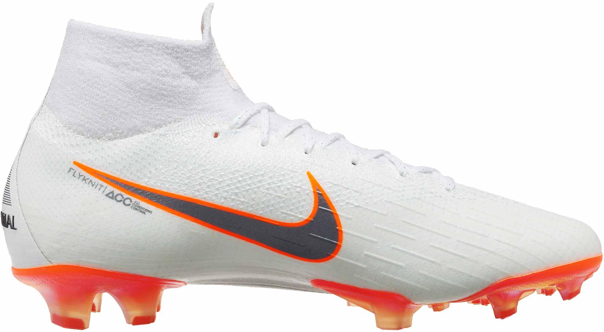 newest collection 4731e d1cc0 Nike Mercurial Superfly 6 Elite FG - White/Total Orange - SoccerPro