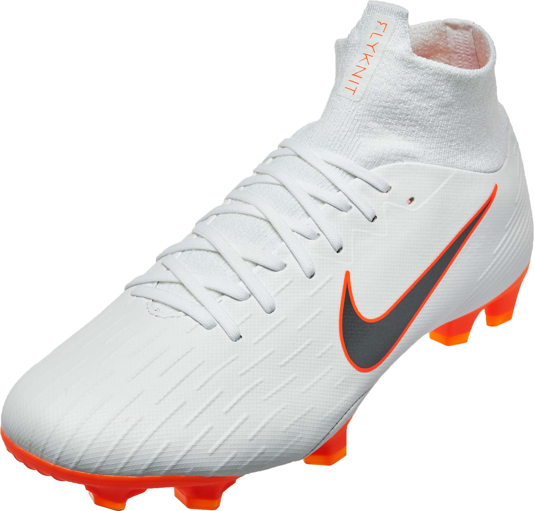 e16e5e8c55b8 Nike Mercurial Superfly 6 Pro FG – White Total Orange