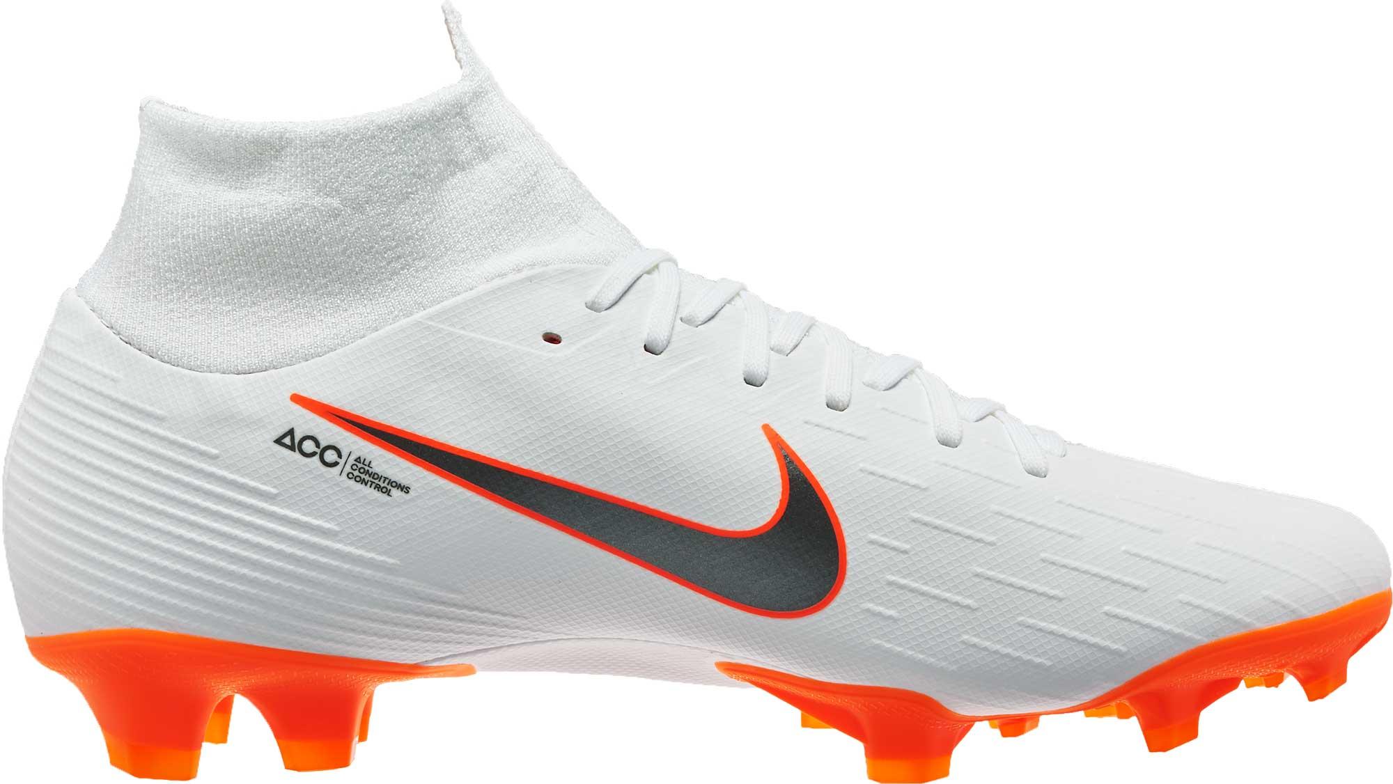 Nike Mercurial Superfly 6 Pro FG - White/Total Orange ...