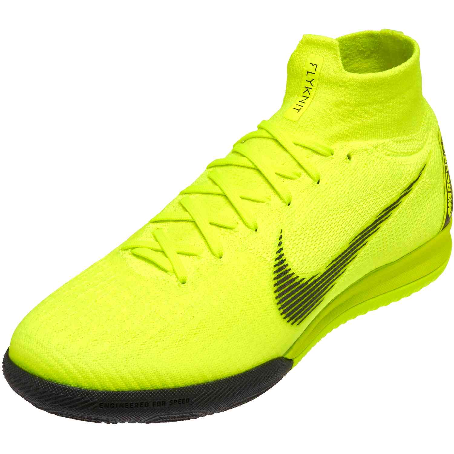 21de869608b Nike Mercurial SuperflyX 6 Elite IC - Volt Black - SoccerPro