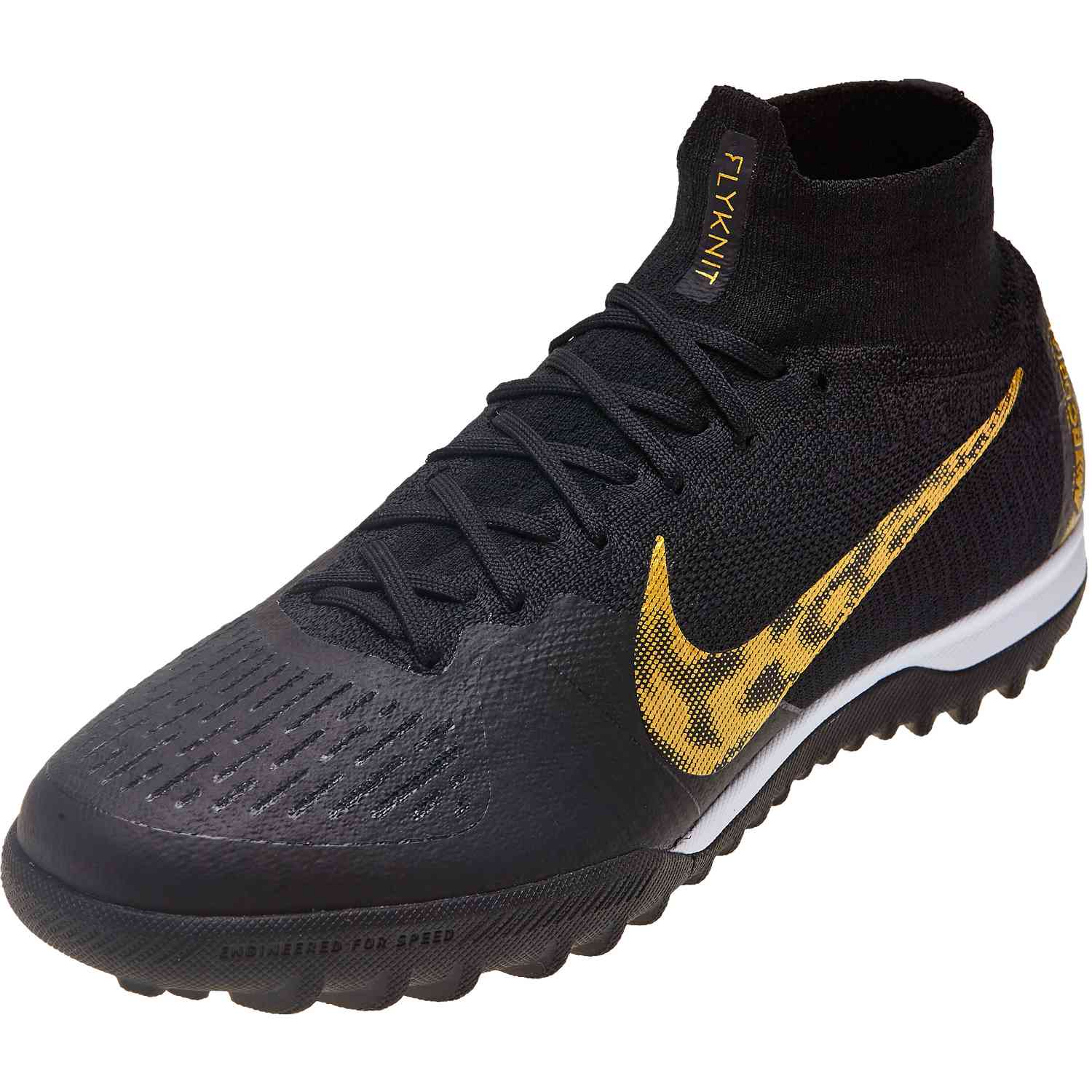 hot sale online ae18f 90877 Nike Mercurial Superfly 6 Elite TF - Black Lux - SoccerPro