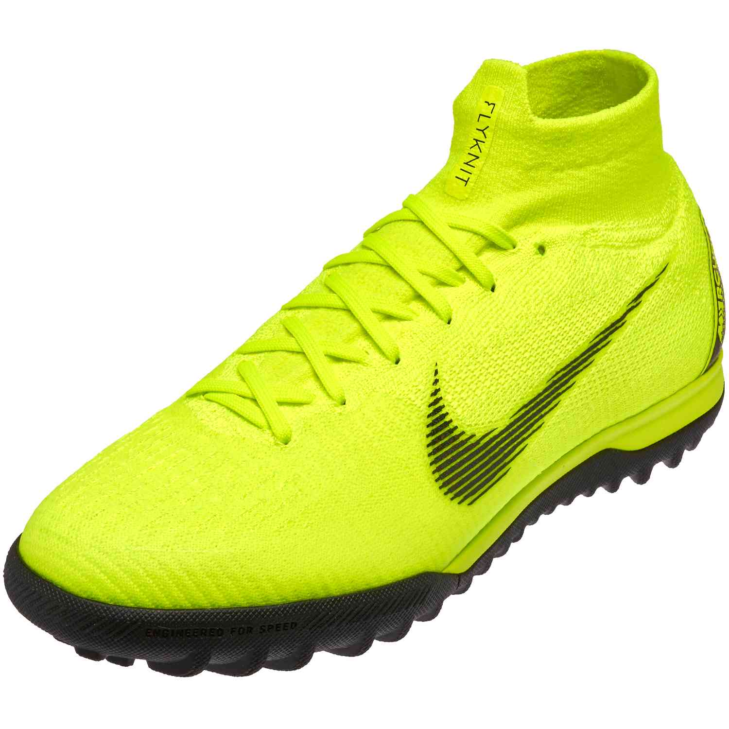 4509c089a Nike Mercurial SuperflyX 6 Elite TF - Volt Black - SoccerPro