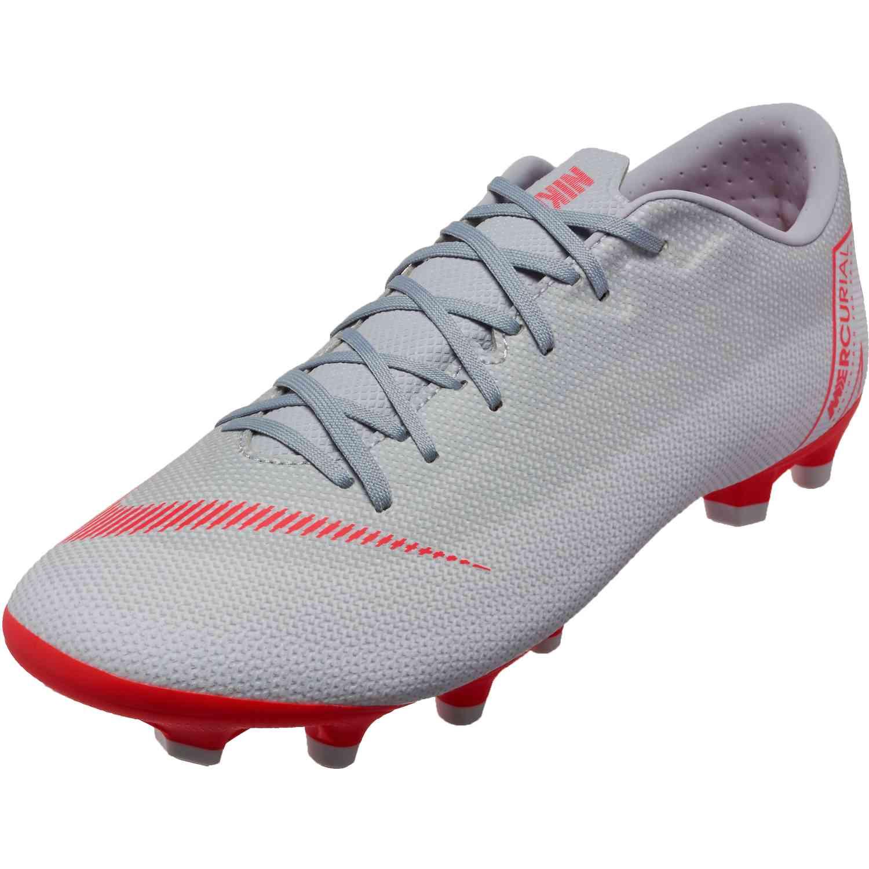c42123ad2aea Nike Vapor 12 Academy MG - Wolf Grey/Bright Crimson/Pure Platinum ...