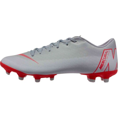 Nike Vapor 12 Academy MG – Wolf Grey/Bright Crimson/Pure Platinum