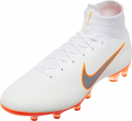 Nike Mercurial Superfly 6 Elite AG – Pro – White/Total Orange