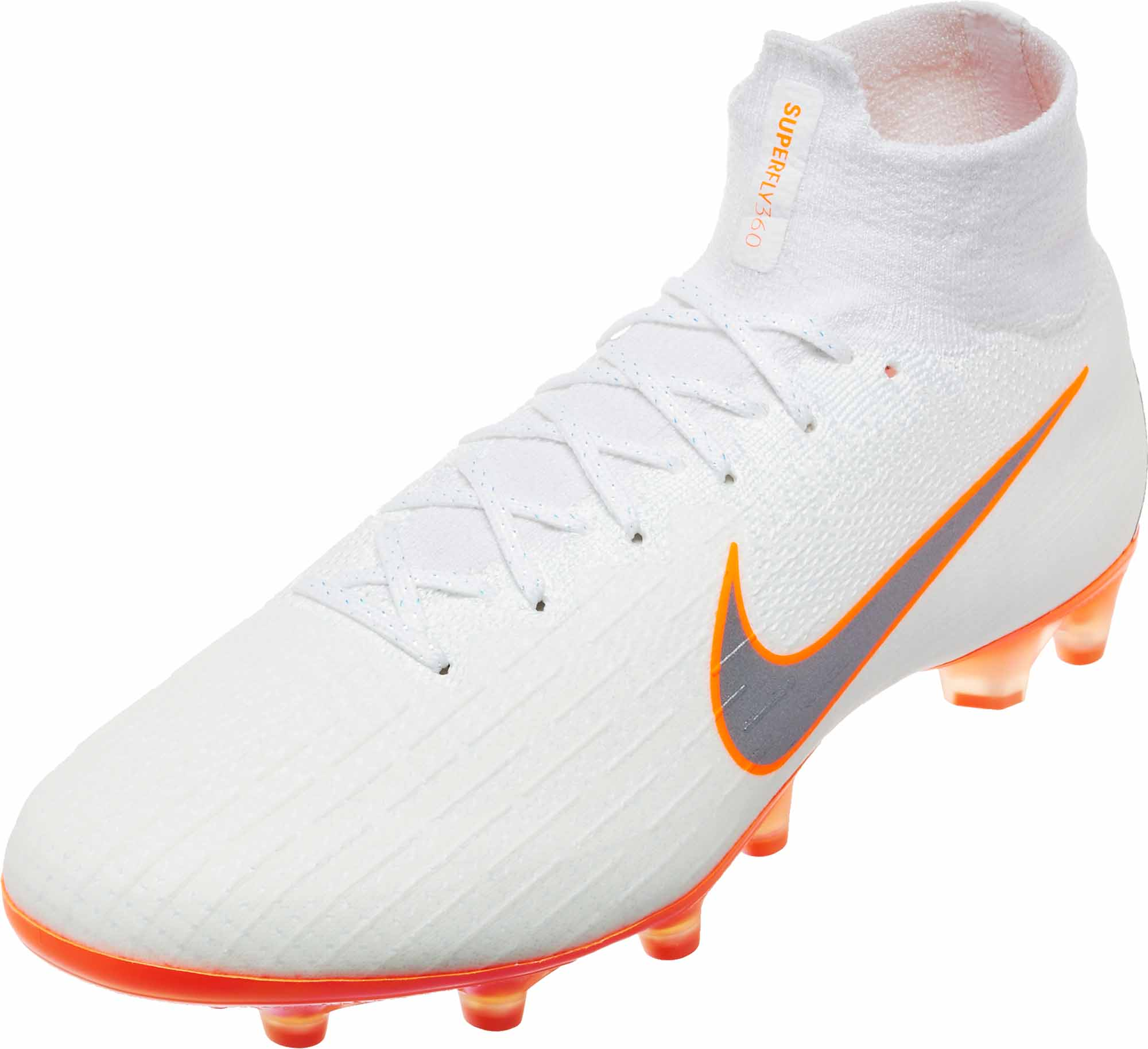 77d6b639230 Nike Mercurial Superfly 6 Elite AG - Pro - White Total Orange ...