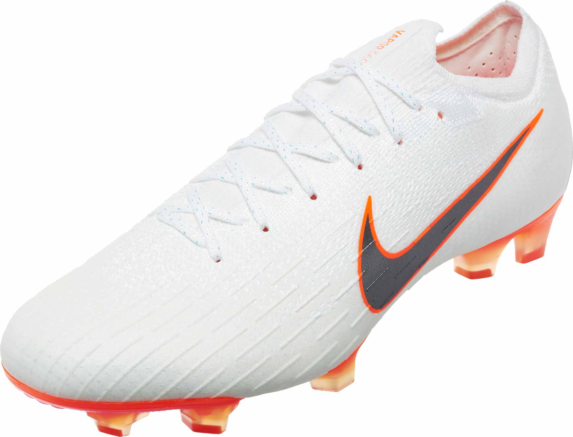 9a7158f10 Nike Mercurial Vapor 12 Elite FG - White Total Orange - SoccerPro
