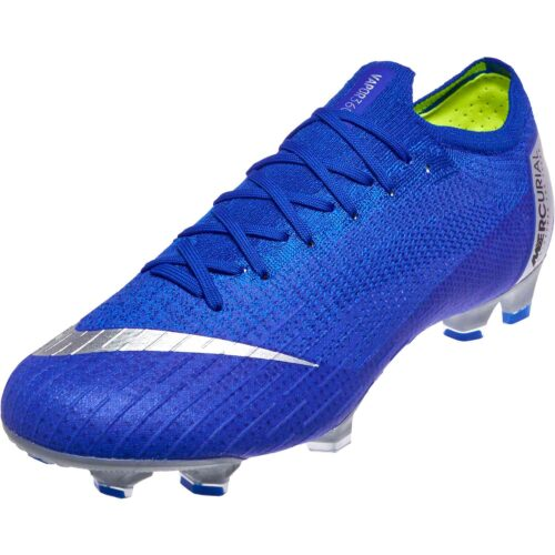 buy online 3b6fd 433e5 Nike Mercurial Vapor 12 Elite FG – Racer Blue Metallic Silver Black