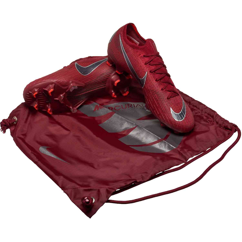 6949e7fd45d29 Nike Mercurial Vapor 12 Elite FG – Team Red Metallic Dark Grey Bright  Crimson