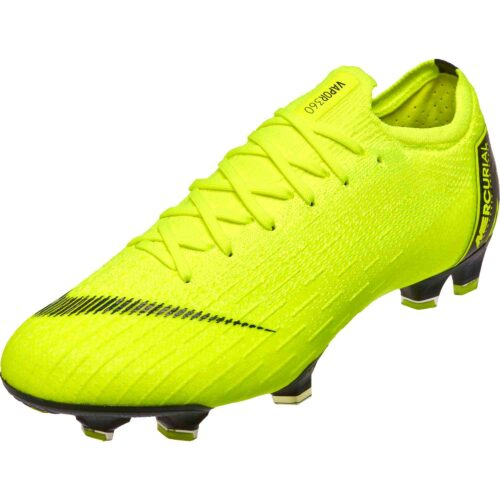 super popular 731b5 3f812 Nike Mercurial Vapor 12 Elite FG – Volt Black