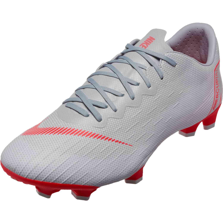 new product c6e91 5cfc3 Nike Vapor 12 Pro FG – Wolf Grey Light Crimson Pure Platinum