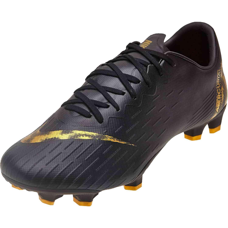 bcd79c36e Nike Mercurial Vapor 12 Pro FG - Black Lux - SoccerPro