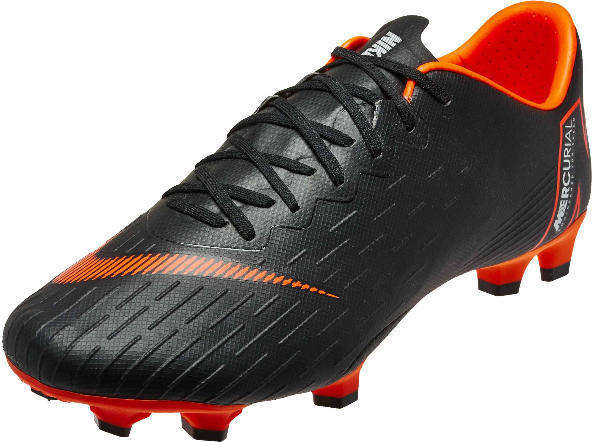 e3079e7d55b Nike Vapor 12 Pro FG - Black Total Orange - SoccerPro