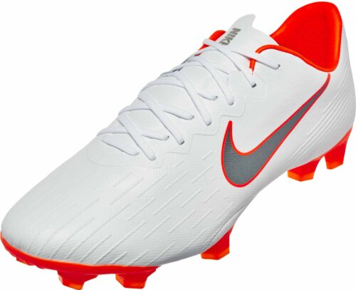 Nike Mercurial Vapor 12 Pro FG – White/Metallic Cool Grey/Total Orange