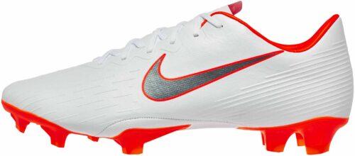 Nike Mercurial Vapor 12 Pro FG – White/Metallic Cool Grey/Total Orange