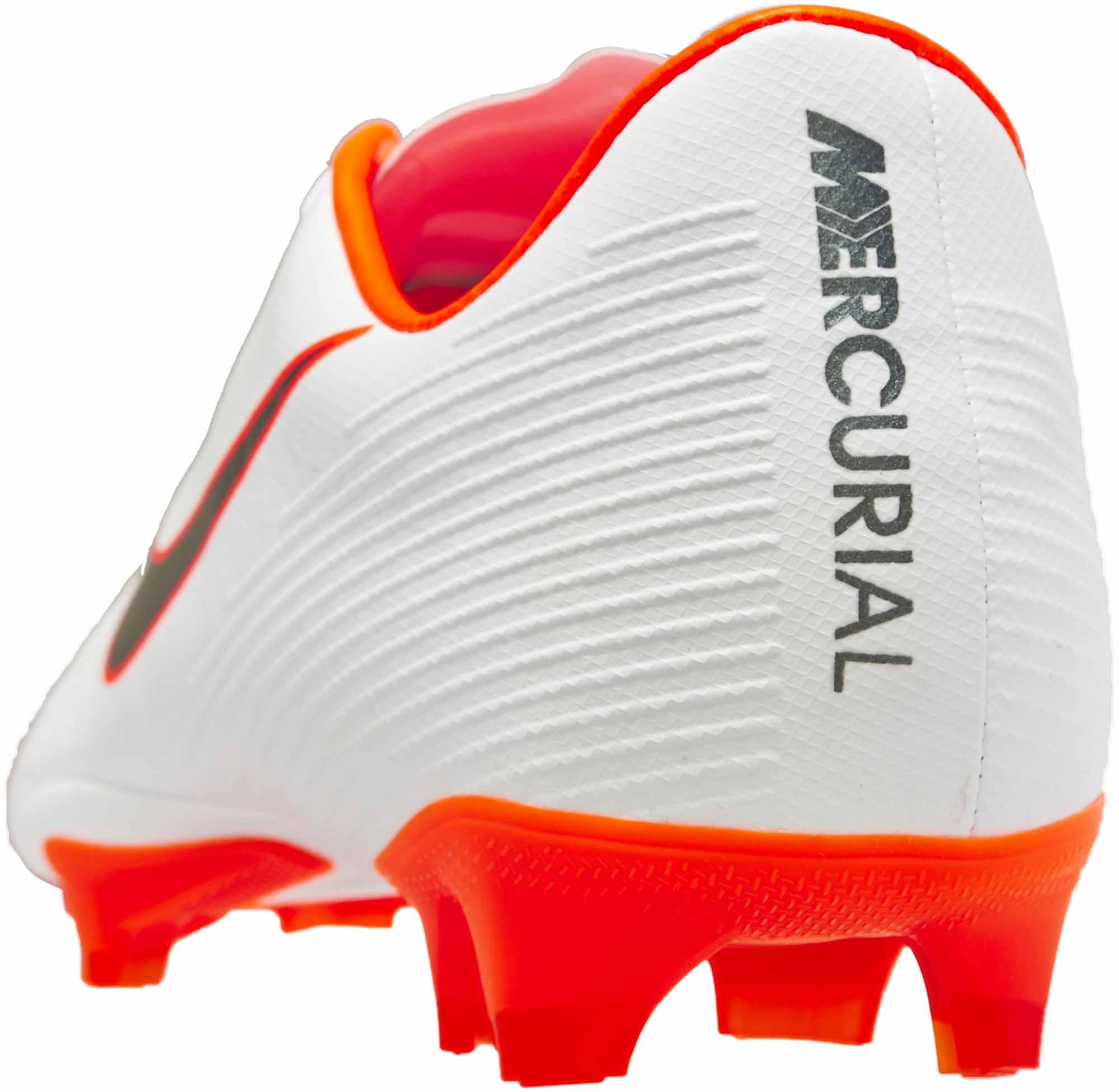 eee38a69984e2 Nike Mercurial Vapor 12 Pro FG – White/Metallic Cool Grey/Total Orange