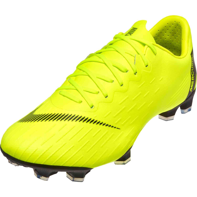 Nike 12 Mercurial Vapor 12 Nike Pro FG Volt Nero SoccerPro 26070e