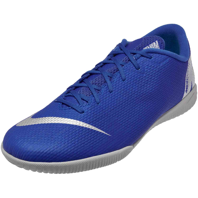 33d8889dd65 Nike Mercurial VaporX 12 Academy IC – Racer Blue Metallic Silver Black Volt