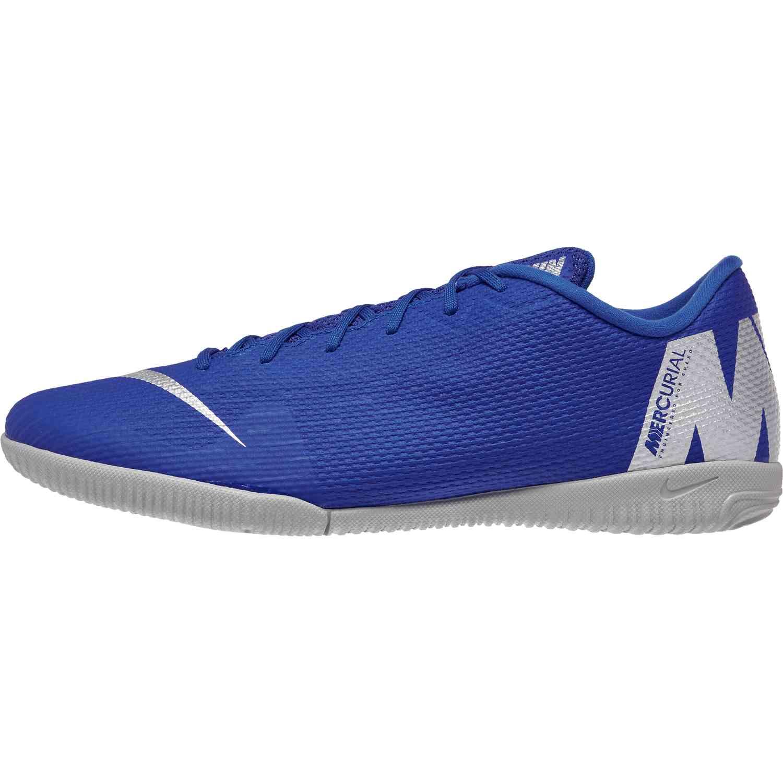 info for 202fe 7cb52 Nike Mercurial VaporX 12 Academy IC - Racer Blue/Metallic Silver/Black/Volt  - SoccerPro