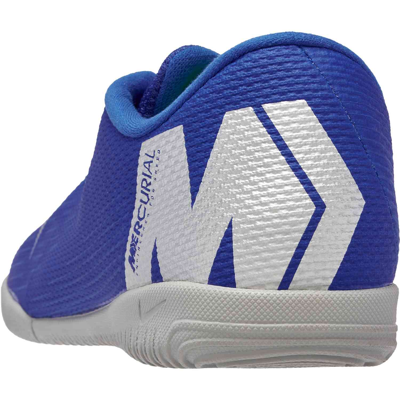 ba46a5e3d97 Nike Mercurial VaporX 12 Academy IC – Racer Blue Metallic Silver Black Volt