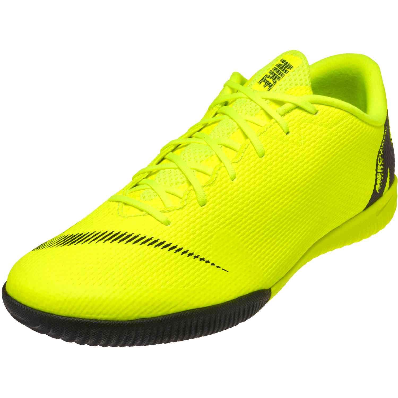2f2ef46d589 Nike Mercurial VaporX 12 Academy IC - Volt Black - SoccerPro