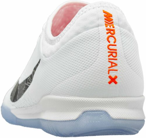Nike VaporX 12 Pro IC – White/Metallic Cool Grey/Total Orange