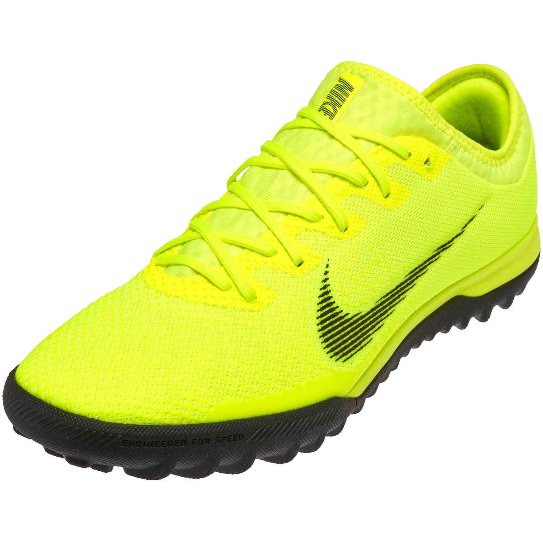 Nike Mercurial VaporX 12 Pro TF - Volt Black - SoccerPro 198b92817329b