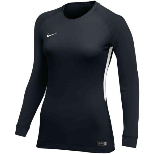 Womens Nike US Tiempo Premier L/S Jersey – Black