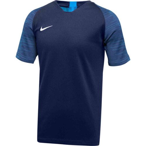 Kids Nike Dry Strike Jersey – College Navy/Photo Blue