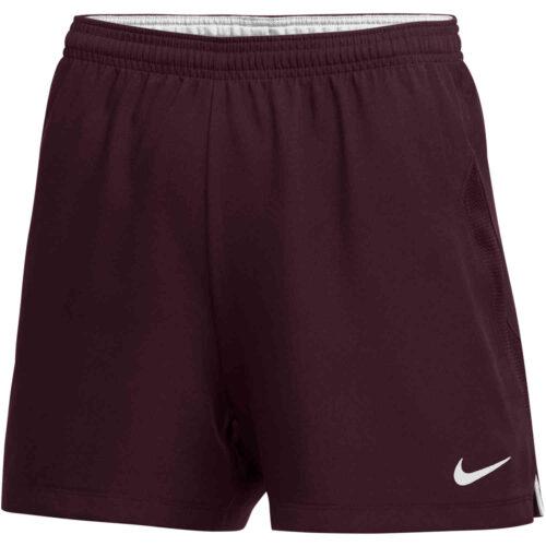 Womens Nike Woven Laser IV Shorts – Dark Maroon