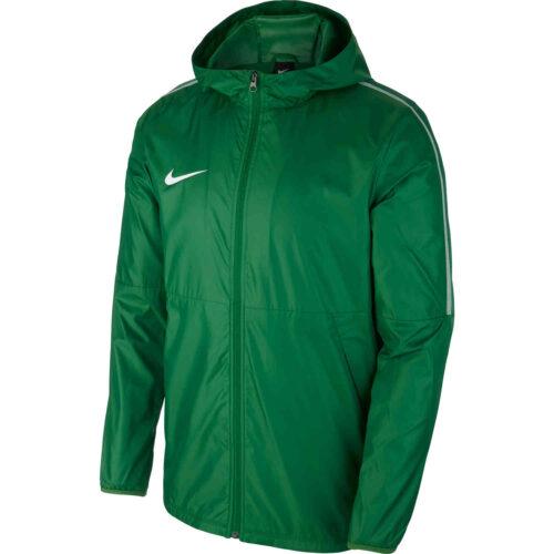 Womens Nike Park18 Rain Jacket – Pine Green