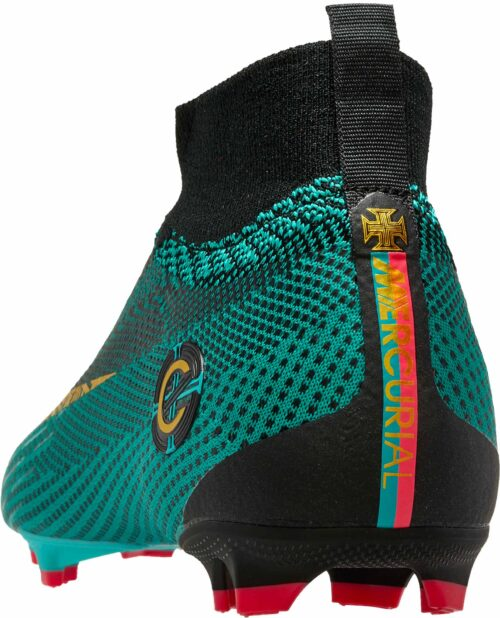 Nike Kids Mercurial Superfly 6 Elite FG – CR7 – Clear Jade/Metallic Vivid Gold